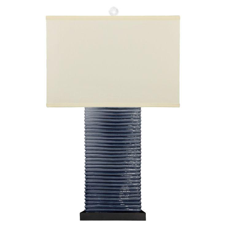 Bungalow 5 Malibu Dark Blue Table Lamp Base @Zinc_Door