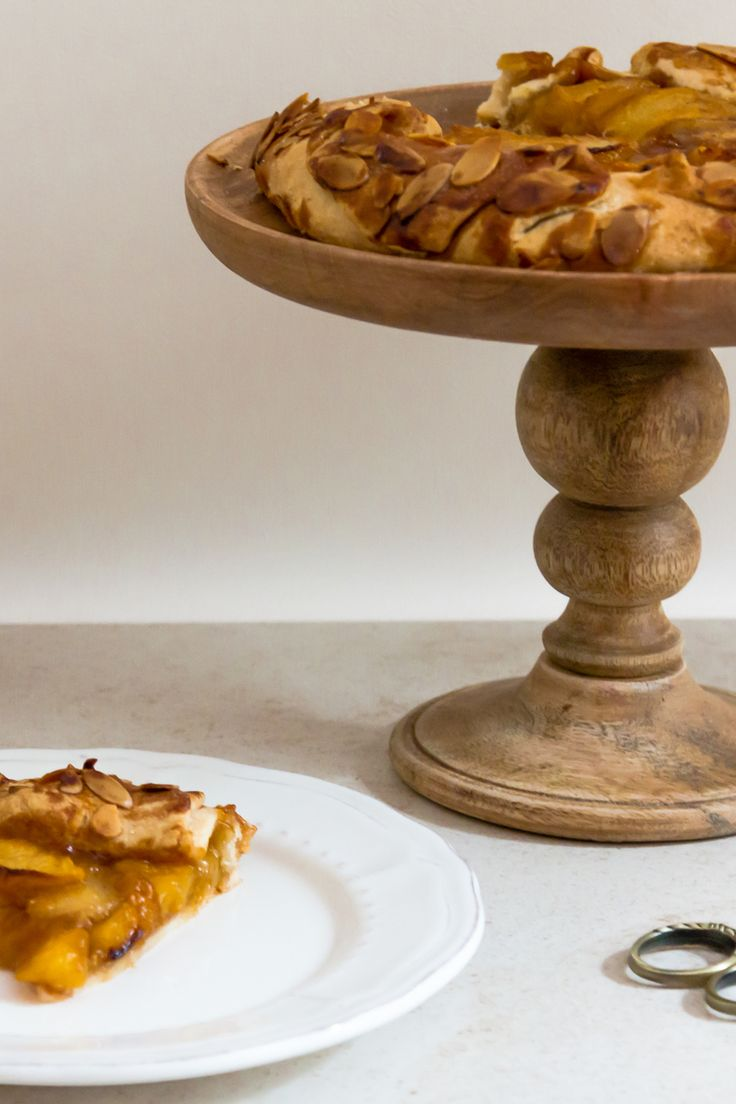 Honey and Saffron Glazed Peach Galette — My Moroccan Food