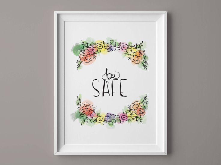Printable quote, modern calligraphy, watercolor flowers, printable wall art, inspirational print,  instant download, hand lettering di VersusPrints su Etsy