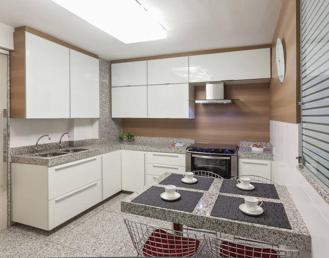 Modelos de puxador. 10 Cozinhas com bancadas de granito branco/claro - veja quais tipos usar e preços!