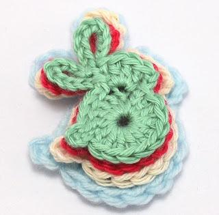 Crochet Bunny Applique - Free Pattern