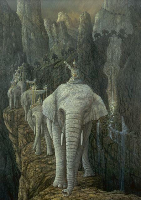Hannibal, Alpenüberquerung,elefanten,tiere,malerei,wildtiere, Hannibal  Crossing The Alps Photo