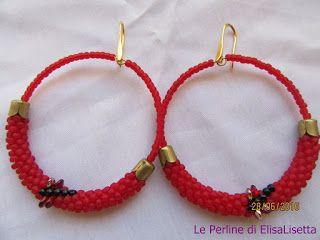 Le Perline di ElisaLisetta: Libellule su cerchi rossi