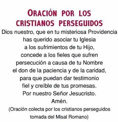 Oración por los cristianos perseguidos