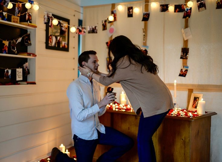 Rachel and Spencer's Epic At-Home Proposal