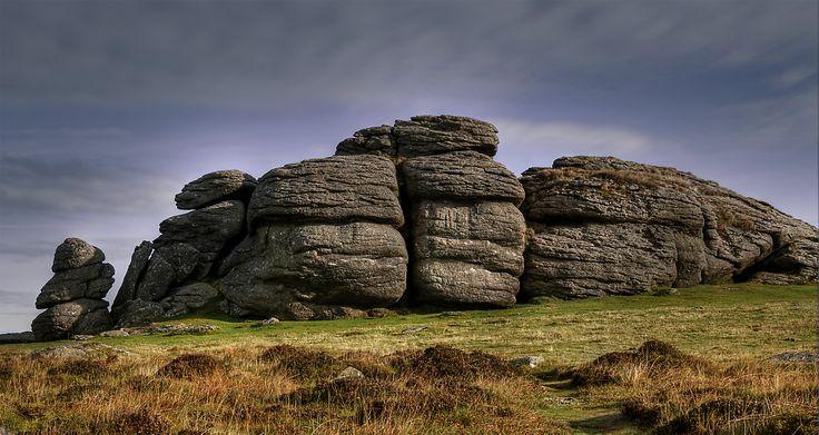 Rocky outcrop in Dartmoor National Park