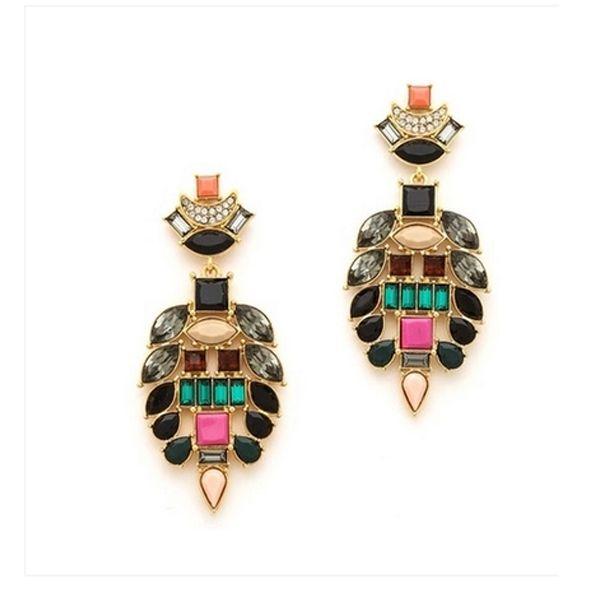 Fashion Beautiful Shiny Elegant Drop Earrings With Gem