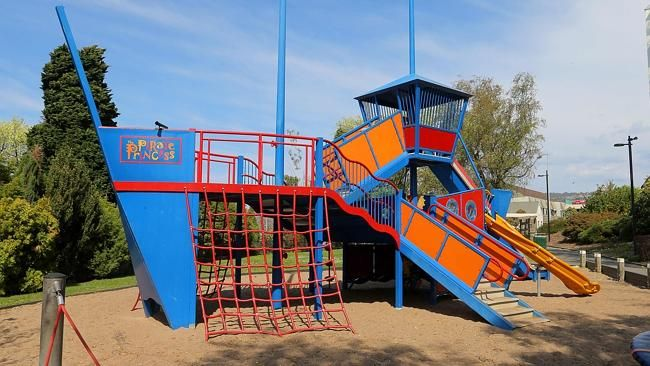 The pirate ship playground at Princes Park, Battery Point just minutes from Salamanca Place.