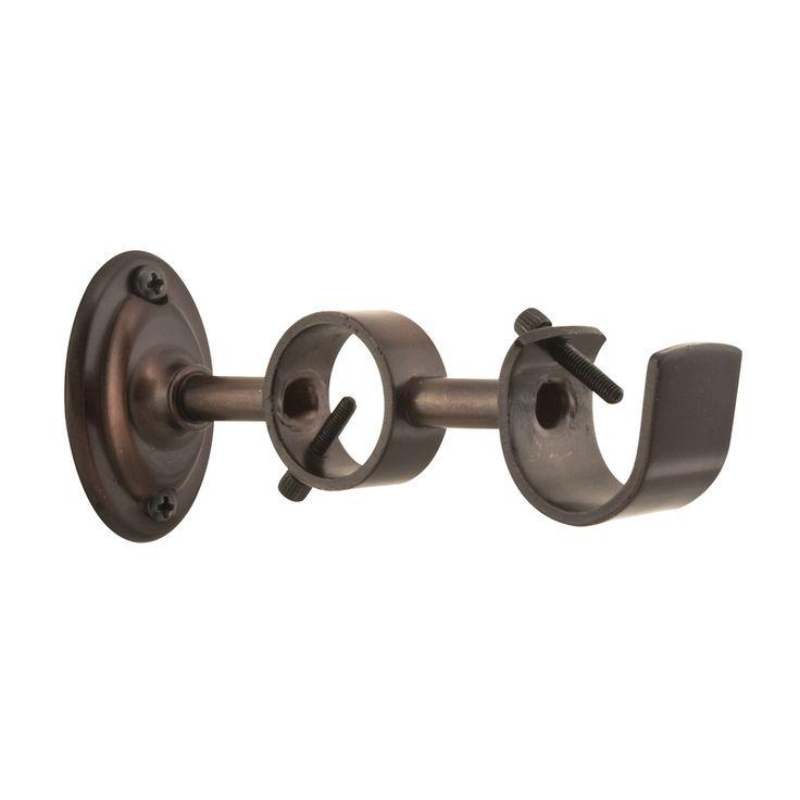 allen + roth Sienna-Bronze Double Curtain Rod Bracket
