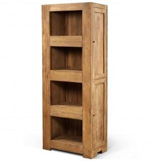 Hidden bookcase natural teak hidden draws and cupboards for Secret storage bookcase