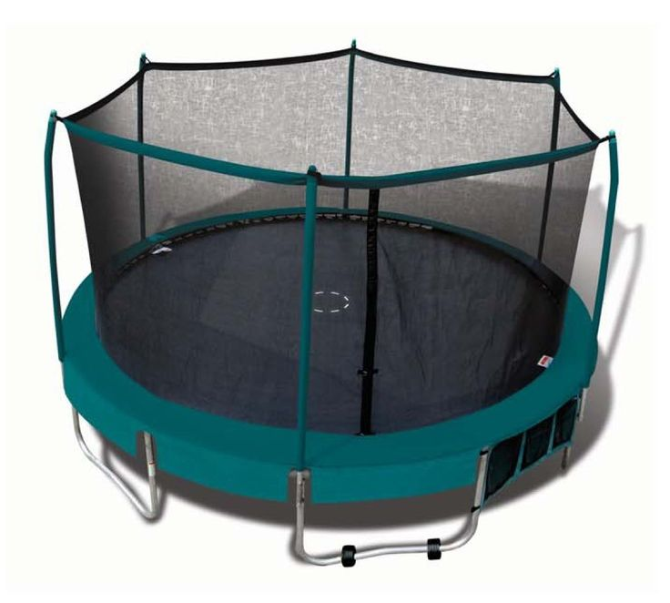 Trainor Sports Deluxe 15' Trampoline Combo with shoe bag and roll-a-way wheels, Trampolines - Amazon Canada