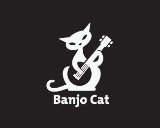Banjo Cat: Cat Logos, Banjos Cat, Category Oth, Logos Design, Logos Identity, Logotipos De, Cat 325X260, Logos Icons Infographic, Kitty Logos
