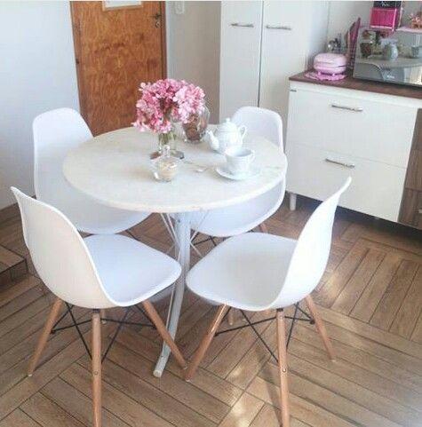 651 melhores imagens de kitchen no pinterest pequena for Mesa redonda para cocina pequena