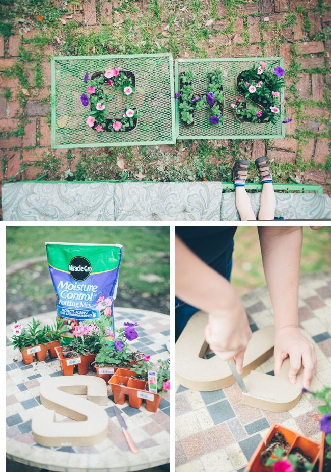 Make Initial Letter Planters - 5 Ways To Welcome Spring into Your Home.  How cute are these?!?!