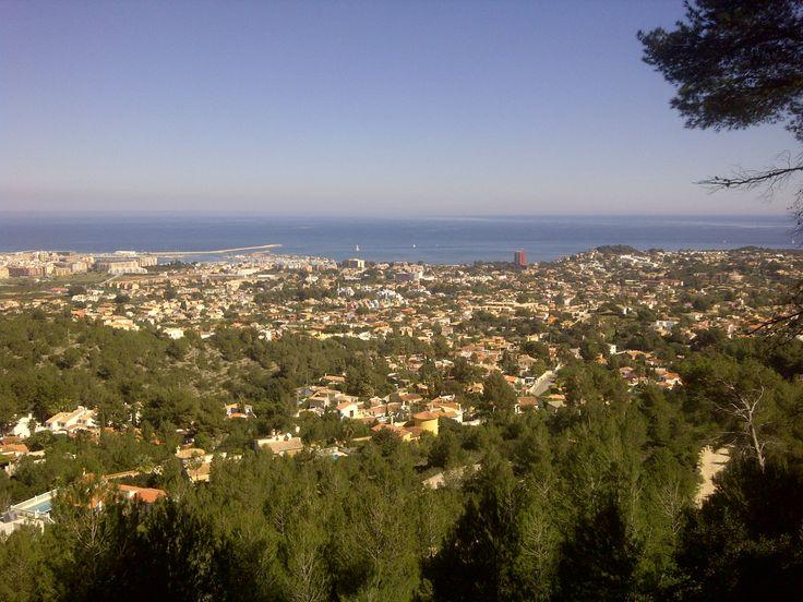 Uitzicht over Denia vanaf de Montgo!