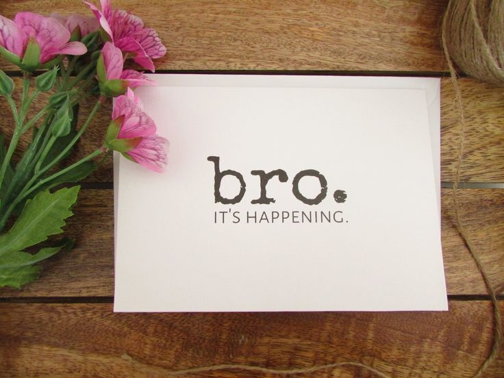 Be My Groomsman Card | Bro. It's Happening | Will You Be My Best Man Card | Funny Groomsman Card | Folded A6 Card & Envelope by eFowCreations on Etsy https://www.etsy.com/listing/264509055/be-my-groomsman-card-bro-its-happening