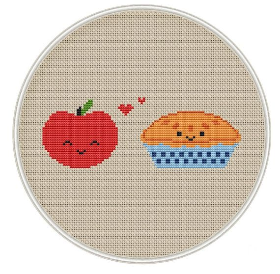 Hey, I found this really awesome Etsy listing at https://www.etsy.com/listing/252133679/apple-and-apple-pie-cross-stitch-pattern