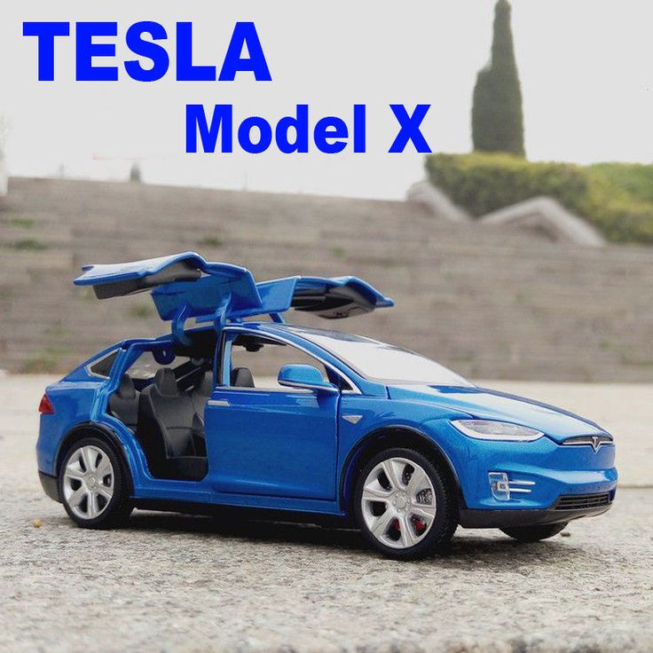 Cool Amazing Tesla Model X SUV 1:32 Diecast Model Car Sound&Light Toy Collection Gift Blue 2017/2018