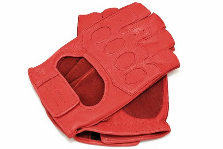 Men's Driving gloves from alpagloves.com  Product code: 1-KIA1-1-1 RED