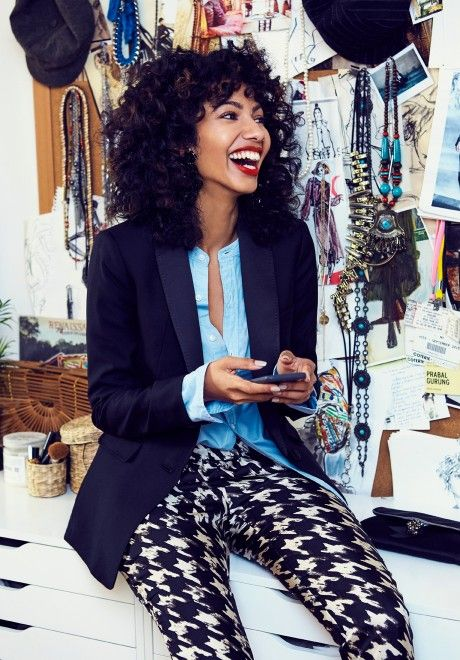 We asked New Zealand raised, Brooklyn-based, fashion illustrator, Nadeesha Godammune to show us three ways—and three places—she's wearing our silk twill pants this holiday.