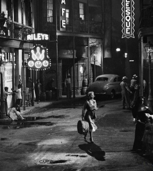 """Vivien Leigh in A Streetcar Named Desire (1951, dir. Elia Kazan)"" - http://oldhollywood.tumblr.com"