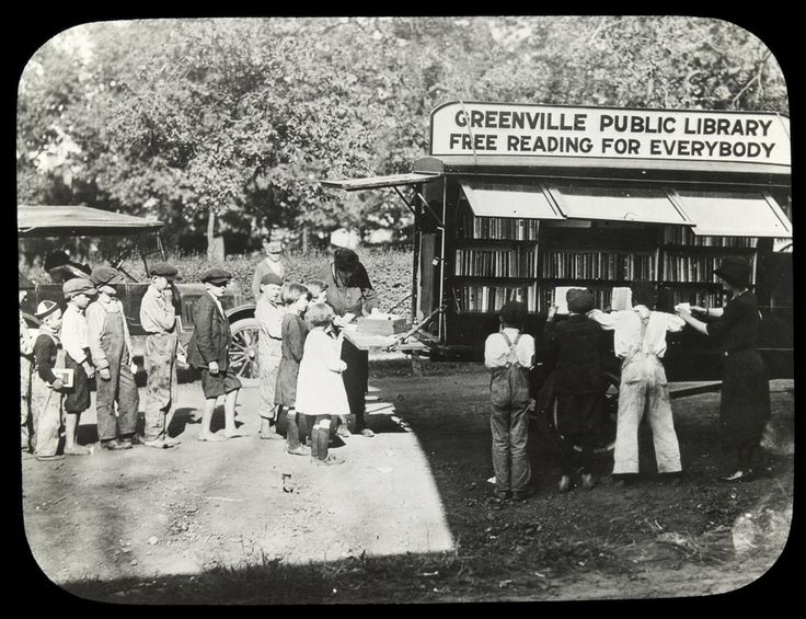Greenville (Vic) Public Library mobile  Date(s): [ca. 1936]. Creator: McMicken, Alfred E., 1872-1964, photographer. Courtesy of State Library of Victoria
