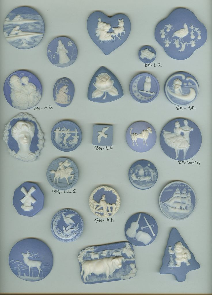 Wedgewood Jasperware Buttons - I would love to own this collection