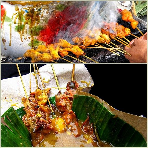 Satay Padang - chicken feet, oyster, and all kinds of innards. Delissssh