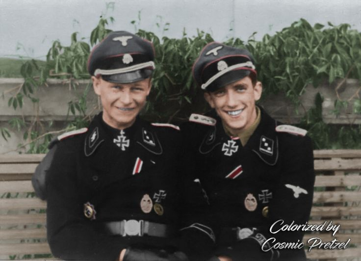 On the left, SS-Obersturmführer Willi Hein, and to his right is his best friend, SS-Obersturmführer Kurt Schumacher (with CP signature)