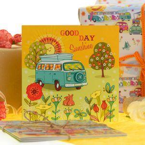 Good Day Sunshine Camper Van Birthday Card