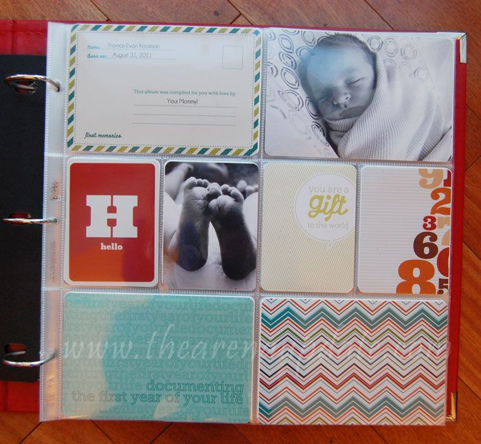 Project LIFE idea: baby book and how to put it together. I like it a lot!