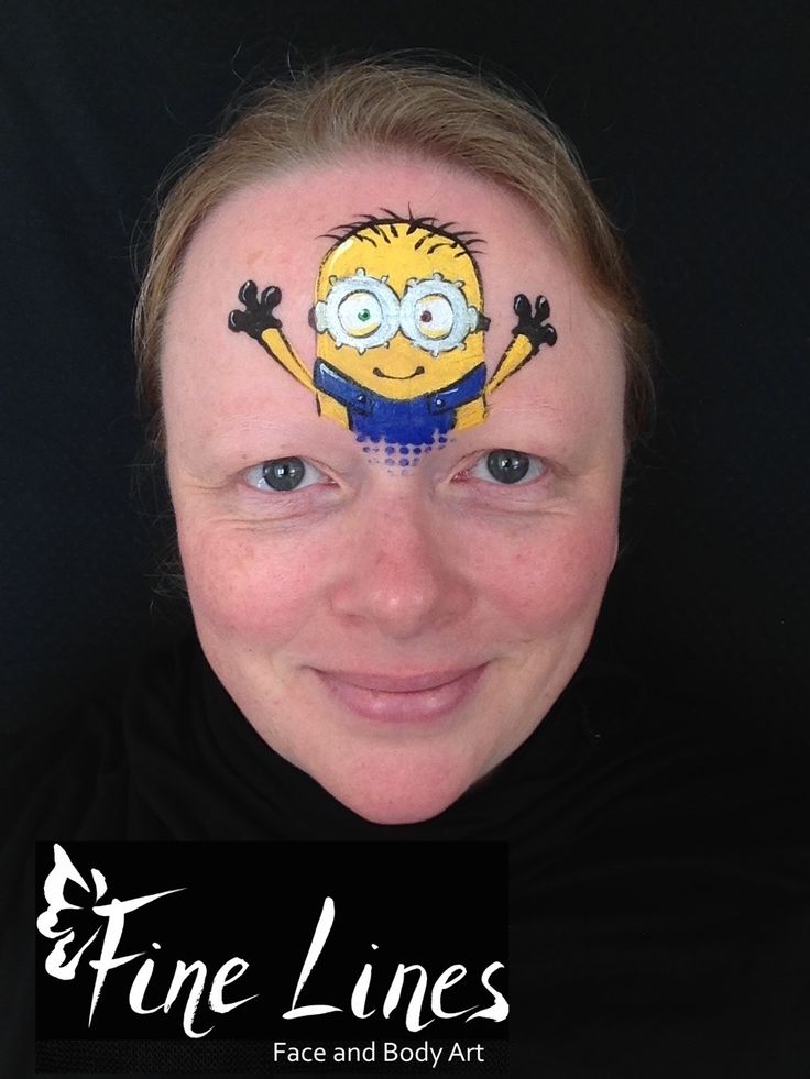 23 best images about minion face painting minion kinderschminken on pinterest posters logos. Black Bedroom Furniture Sets. Home Design Ideas