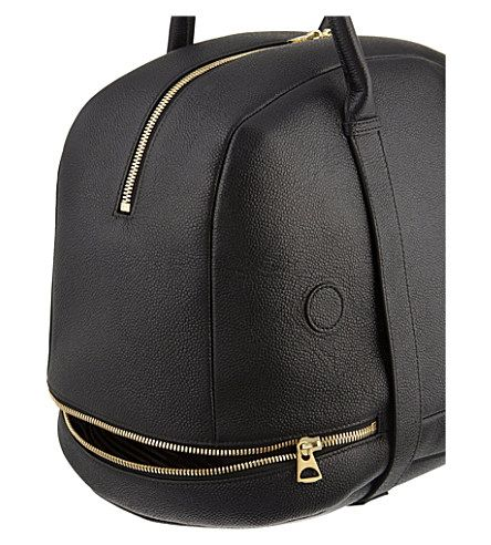 THOM BROWNE Whale leather tote bag (Black