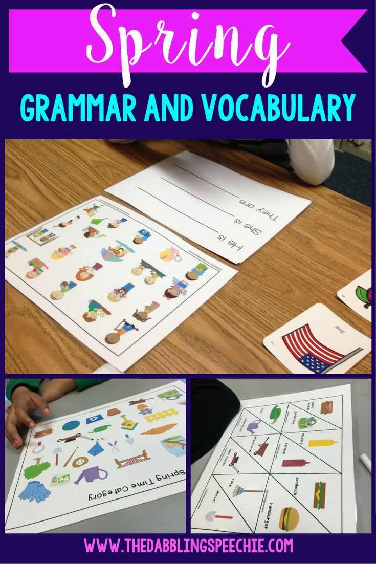 What goes together what doesn t belong fun worksheets and cut and - Springtime Grammar Vocabulary Activities