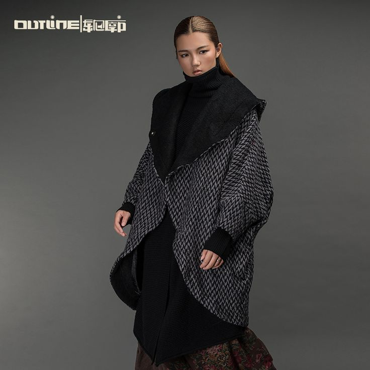Find More Information about Outline Original Brand Black Winter Coat Vintage Long  Plus Size Jacket Loose Woolen Overcoat Women Down Hooded Jacket L154Y011,High Quality vintage skull,China long-sleeved blouse Suppliers, Cheap vintage tankini from OUTLINE on Aliexpress.com