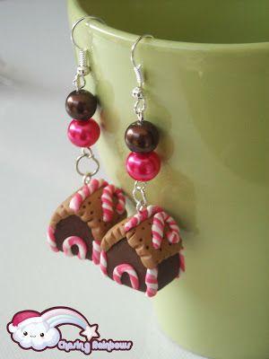 Collezione Profumo di Neve - Orecchini Gingerbread House #xmas #kawaii #cute #sweet #handmade #jewels