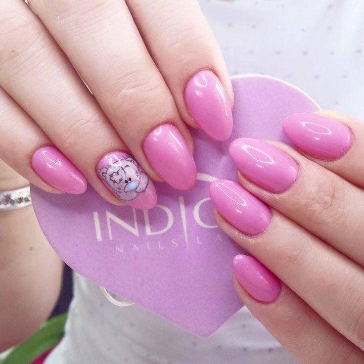 by Agata Kaczmarek Indigo Young Team :) Follow us on Pinterest. Find more inspiration at www.indigo-nails.com #nailart #nails #indigo #pink #sunsetpink