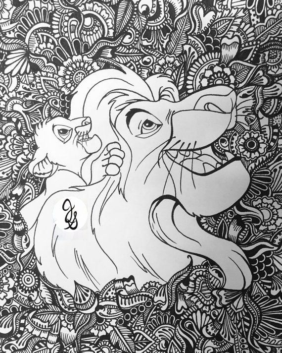 Mandala Coloring Pages Lion Background
