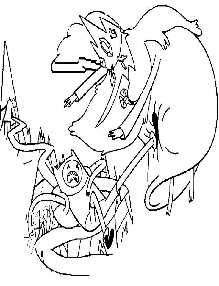 adventure time finn versus ice king coloring pages