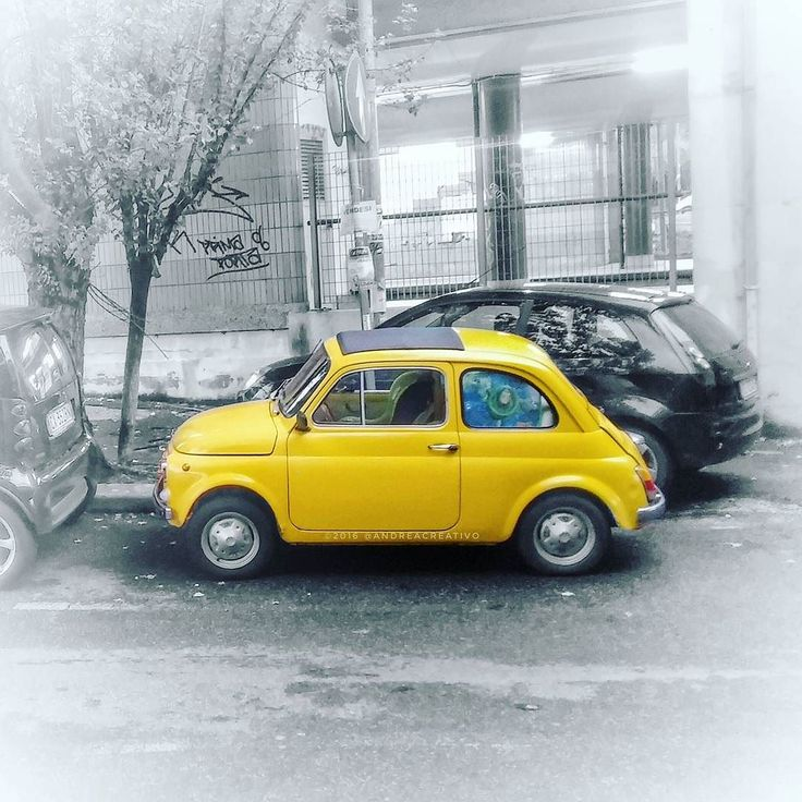 500 and the city :-) #Fiat500 #i