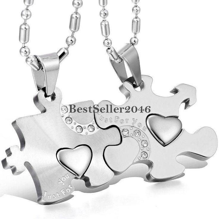 Puzzle Piece Matching Heart Couple Pendant Necklaces Men's Women's Love Gift #UnbrandedGeneric #Pendant