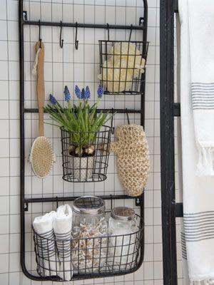 rangement de cuisine mural en m tal filaire paniers et crochets rangement cuisine pinterest. Black Bedroom Furniture Sets. Home Design Ideas