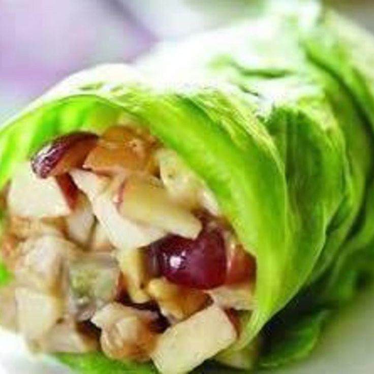 Chicken Apple Wraps - This is a light and summery kind of wrap I thought was pretty good.