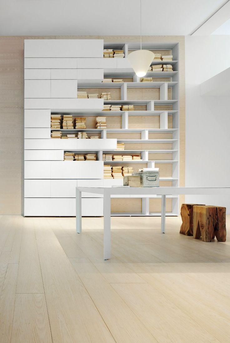 Sectional modular #bookcase LINE by @albedmilano