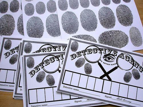 Printable Fingerprint cards.   mypapercrane.com