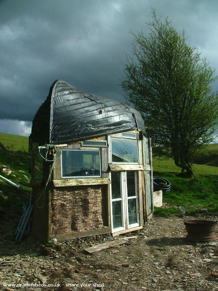 Boat Roofed Shed, Unique shed from Up a mountain on a farm | Readersheds.co.uk