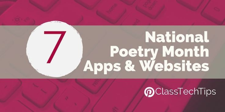 If you're looking for National Poetry Month apps and poetry websites you've come to the right place. Here are some of my favorite poetry websites.