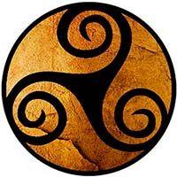 significado simbolos celtas trisquel triskel triskele triskelion