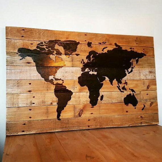25 beste idee235n over wereldkaart wand op pinterest
