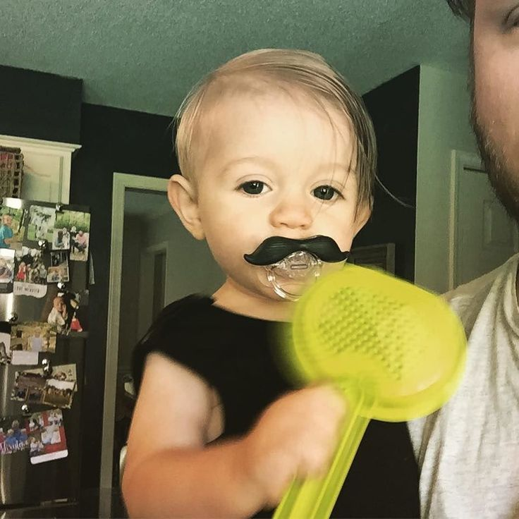 Via Zach: Oliver's evil twin Toliver came to visit today .... He's an insane person  Cool mustache tho #zachmyers #shinedown